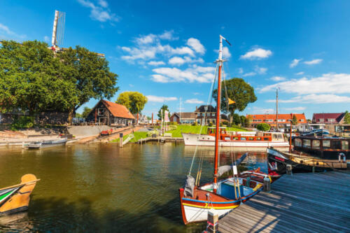View at the old Dutch harbor of Harderwijk