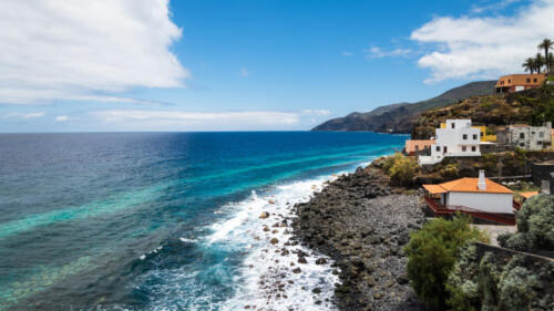 Beautiful coastline of La Palma