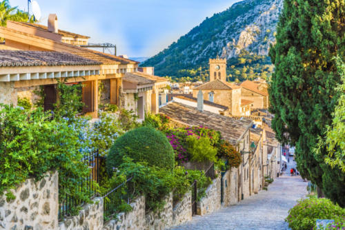 Pollenca, old village on the island Palma Mallorca, Spain