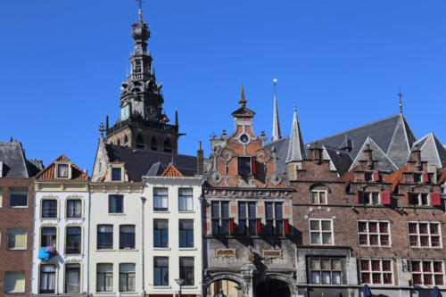 Historical buildings in Nijmegen, Holland
