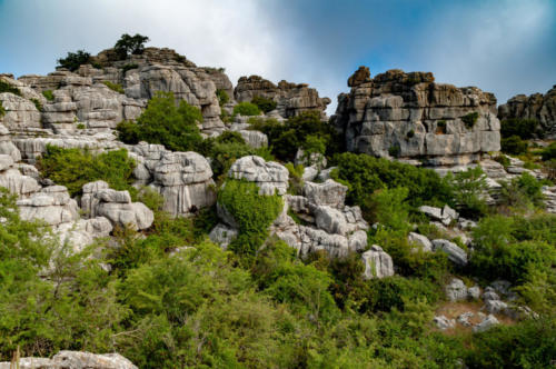 Landscape of the Torcal de Antequera.
