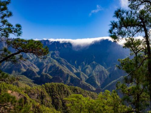 Cloud Waterfall of La Palma, Spain in the Canary Islands