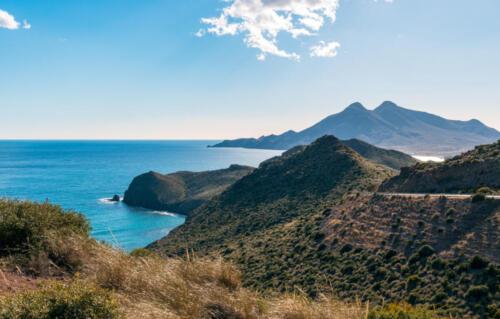 Costa del Cabo de Gata en Almería. Vista desde el mirador de la Amatista.