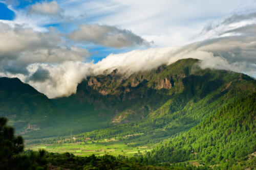 Beautiful landscape of the mountains in La Palma