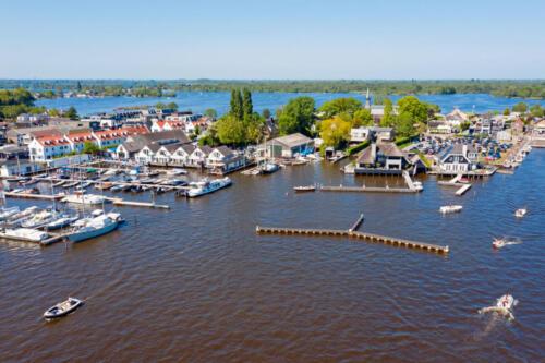 Aerial from Loosdrechtse Plassen in the Netherlands