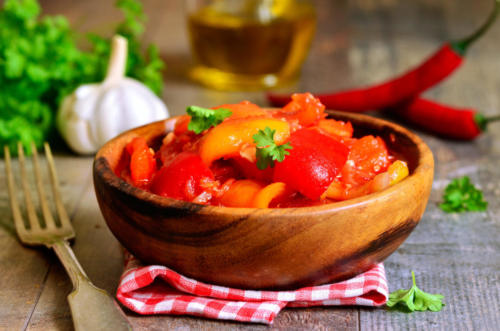 Marinated lecho,hungarian cuisine.