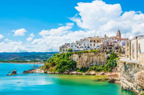 Vieste panoramic view, Apulia,south Italy