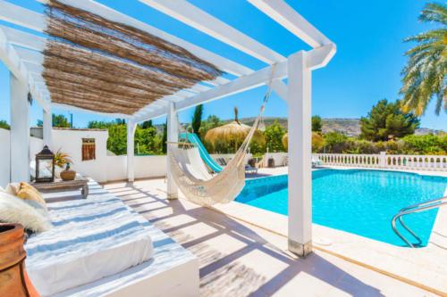 Foto zwembad hangmat